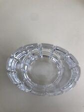 Kenneth Turner Crystal Glass Oval Votive Tealight candle holder
