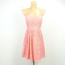 TALLY WEIJL Kleid Bandeau Dress Spitze Koralle Pink Gr. 38 M