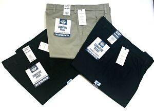 Men's Dockers Signature Khaki Pleated Classic Fit Lux Cotton Stretch Flex Pants