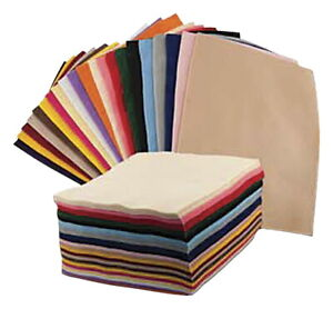 CPE Acrylic Felt Assortment, 9 x 12 Inches, Assorted Bold Colors, Set of 100