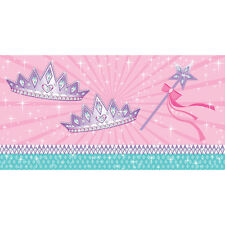 Princess Party Table Cover Creative Converting Plastic Tablecloth  54x108 Crown