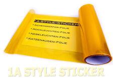 Gelbe Scheinwerfer Folie 100cm x 30cm Tönungsfolie Nebenlscheinwerfer WRC Yellow
