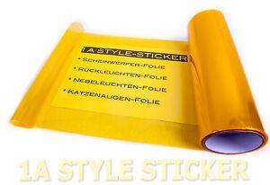 Gelbe Scheinwerfer Folie 100cm x 30cm Auto Tönungsfolie Nebenlscheinwerfer CAR