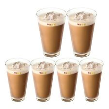 Set of 6 Nescafé Dolce Gusto Ice Cappuccino Coffee Cup Cold Drink Iced Tea Glass