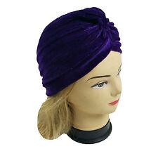 1pc Lady Stretchy Turban Head Wrap Band Chemo Bandana Hijab Pleated Indian Cap Red