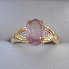 1.52ct Unenhanced Certified Pink Pamir Spinel & Diamond Gold Ring