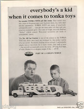 1959 PAPER AD Tonka Toys Toy Car Auto Carrier Truck Hubley Pistol Rifleman Rifle