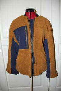 NEW Free People We The Free Rivington Sherpa Jacket Amber Combo Size XS
