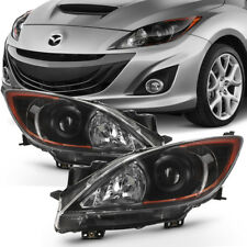 Black 2010-2013 Mazda 3 Mazda3 Headlights Headlamps Light Lamp Left+Right 10-13