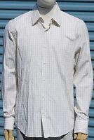 Hugo Boss Mens Long Sleeve Button Front Dress Shirt White/Tan Striped 15.5-34/35