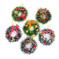 New Christmas Garland Ring Wreath Berry Pendant Window Showcase Hanging Decor