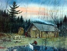 The Dudes Bush Hangout By Les Kouba Signed and Numbered Hunting Shack Print