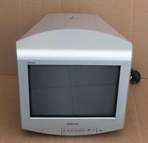 "Sony Trinitron 14"" CRT TV KV-14LT1U SCART Retro Console Gaming"