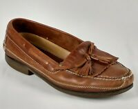 Johnston & Murphy Mens Leather Casual Shoes Sz 13M Kiltie Tassel Loafers Brown