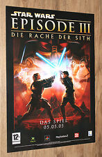 Star Wars Episode III Revenge of the Sith German Promo Poster 59x42cm PS2 Xbox