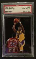 1996 KOBE BRYANT RC PSA 10 GEM MT FLEER #203 ROOKIE CARD