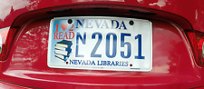 Nevada NV Love 2 Read Auto License Libraries Education Under 200 plates made!