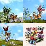 8x Butterfly Miniature-Fairy Garden Ornament Plant Pot Craft Dollhouse Decor DIY