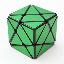 Green brushed metallic Turbo master Magic King Kong Axis Cube Puzzle