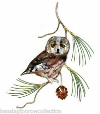 WALL ART - SAW WHET OWL METAL WALL SCULPTURE - WALL DECOR