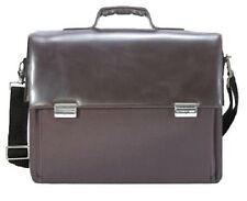 Brown leather Tucano laptop netbook carry case bag.Computer travel flight  bag b0a80f4d3ee0c