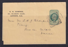 """POSTMARK  GB: LONDON  S.E.  """"6"""" IN CORNERS SQUARED CIRCLE ON HALF PENNY WRAPPER."""