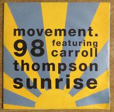 "Movement '98 featuring Carroll Thompson, Sunrise 7"", Circa Records"