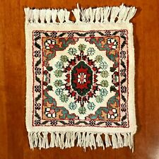 Vintage Small Middle East Afghani Rug - Opium Poppies - Hand Knotted - Pure Wool