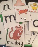 Alphabet Letter & Picture Match Flashcards Bright/Autism/EYFS - KS1/2 SEN