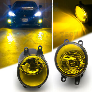 Yellow Lens OE Rplacement Fog Light Lamps with H11 Bulbs For Toyota Lexus Scion