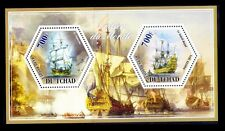 Tchad MNH SS, Hexagon Odd Unusual, War Ships, French Superbe & Soleil Royal -M47