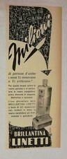 Pubblicità epoca 1952 LINETTI BRILLANTINA CAPELLI advertising publicitè reklame