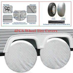 """4PCS Wheel Tire Covers For RV Trailer Camper Car Truck 26"""" to 27'' Tire Diameter"""