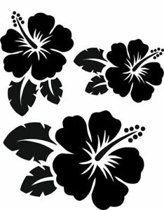 Tropical Hibiscus Flowers Stencil - Choose a Stencil