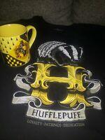 Harry Potter Hufflepuff Crest Ceramic Coffee Mug 14ozYellow Blac & Tshirt Sz M