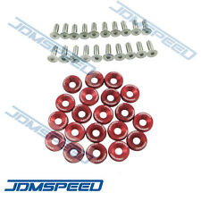 20PC RED JDMSPEED CNC BILLET ALUMINUM FENDER WASHER ENGINE BAY DRESS UP KIT