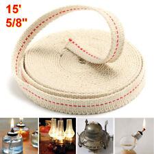 5/8'' 1.5cm Feet 4.5m 0.6'' White 100% Cotton Replace Flat Cotton Oil Lamp Wick
