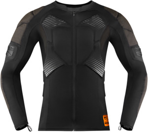 Icon Field Armor Compression Motorcycle Street Bike MX Black Shirt - All Sizes