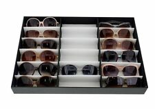 Glasses Display Storage Case Stand Tray Rack 18 Slot Eyeglasses Sunglasses Gift