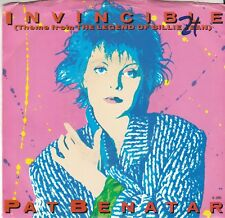 Pat Benatar 80s ROCK S/T 45 & PS (Chrysalis 42877) Invincible  VG++/M-