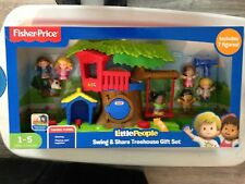 Fisher Price Little People Swing Share Treehouse Gift Set Talking NEW