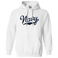 Navy Script & Tail HOODIE - Hooded USA US Military Team Sweatshirt - All Colors