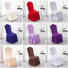 US Dining Room Wedding Banquet Chair Party Decor Stretch Seat Cover Slipcover