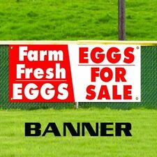 Farm Fresh Eggs Eggs For Sale Advertising Vinyl Promotion Banner Business Sign