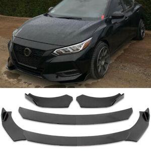 For Nissan Sentra Carbon Fiber Look Front Bumper Lip Splitter Spoiler Body Kit