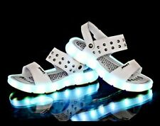 LED Summer Sandals for Boys Girls USB Charging Shoes Children Glowing Shoes Kids