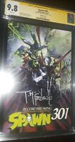 SPAWN 301 CGC SS 9.8 SIGNED BY TODD MCFARLANE / Crain Cover E.  Mint!!!!