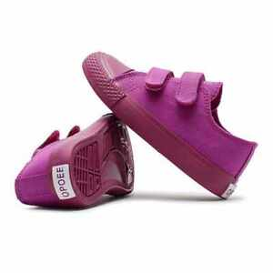Opoee Keds girls size 36 (US 4 M )  sneakers purple adhesive straps New