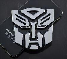 AU Transformer Optimus Prime Car Metal Chrome Emblem Badge Decal Sticker 7cm
