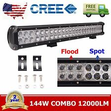 23inch 144W CREE LED Light Bar Combo Offroad Jeep Truck Boat 4WD Driving Truck